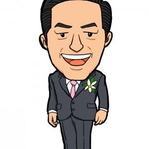 愛媛県知事中村様似顔絵