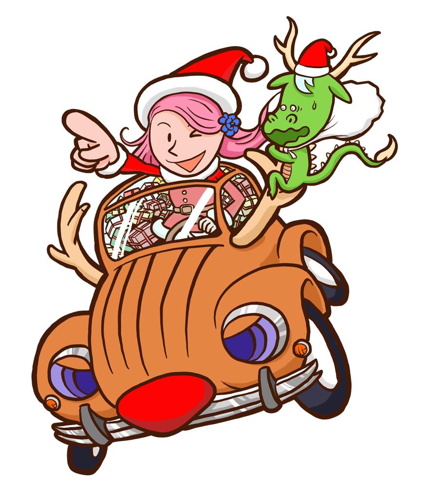 サンタクロースひめガールひめbook表紙イラスト