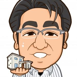 家と一級建築士事務所専務様の上半身似顔絵