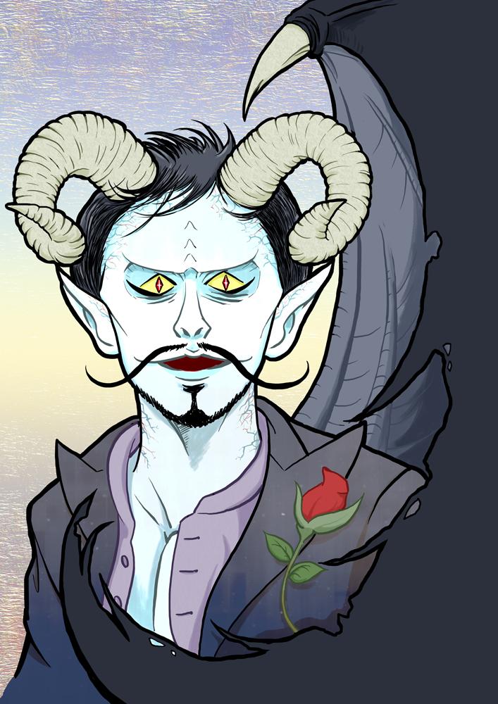 なんとなく悪魔のイラスト
