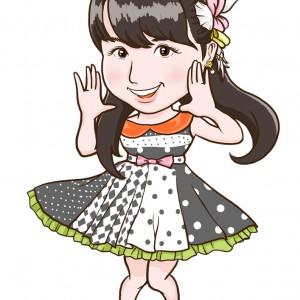 AKB48の岩立沙穂さま全身似顔絵