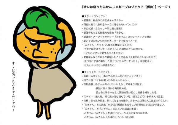 みきゃんのライバルキャラクター「みぎゃん」