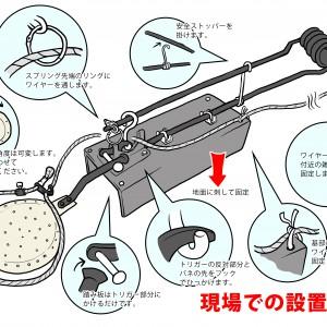 狩猟用罠取扱説明書用のイラスト