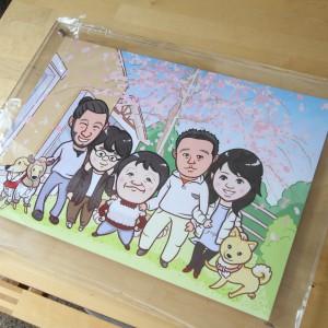 喜寿のお祝いイラスト|家族イラスト|サンクスイラスト