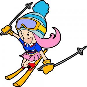 スキーするひめガールひめbook表紙イラスト
