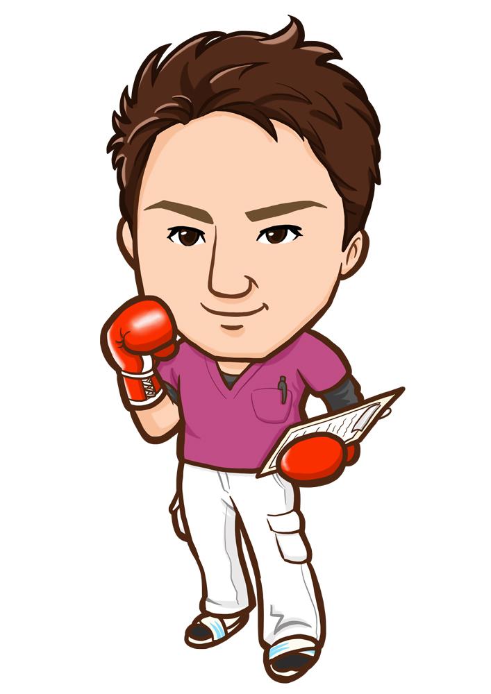元ボクサーの整体師様似顔絵