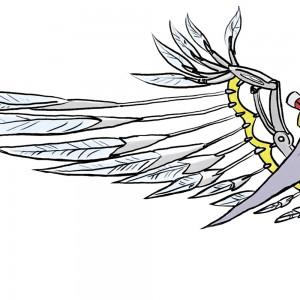 ロボット鳥のイラスト