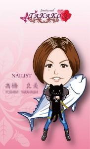 ネイルサロン「Jewelrynail TAKAKO」スタッフ様似顔絵名刺