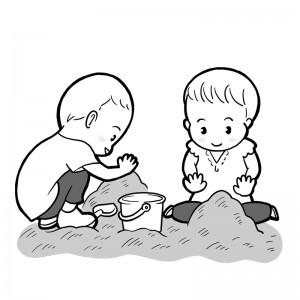保育園マニュアルに使用する挿絵制作17