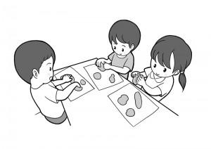 保育園マニュアルに使用する挿絵制作22