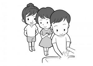 保育園マニュアルに使用する挿絵制作24
