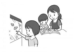 保育園マニュアルに使用する挿絵制作30