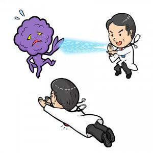 ウルトラマン医師とガン細胞との対決