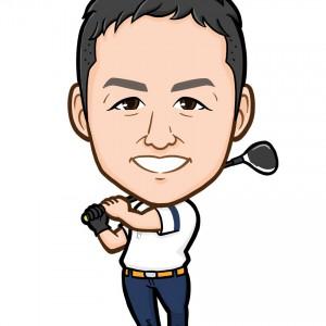 ゴルフ全身似顔絵