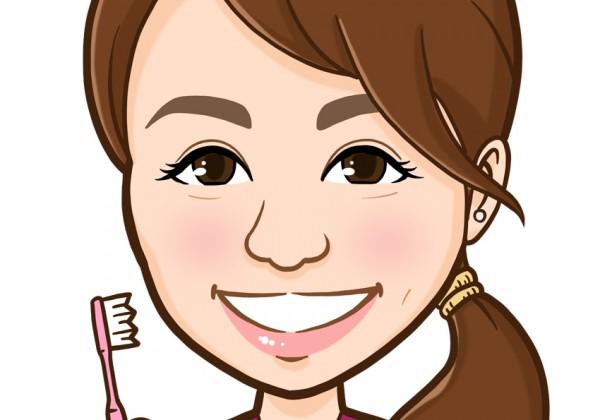 歯科衛生士様上半身似顔絵