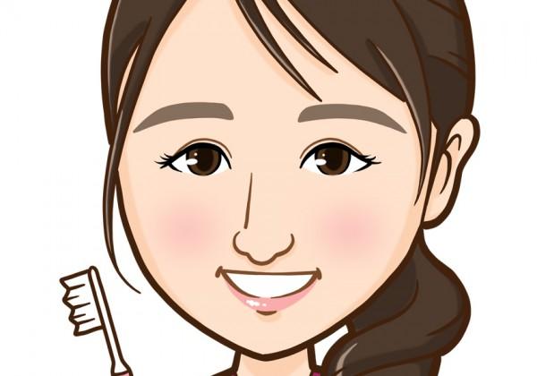 歯科衛生士様上半身似顔絵2