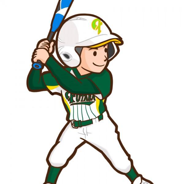 小学生野球チームのイラスト